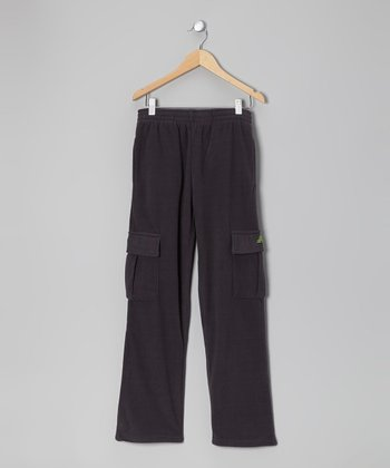 Charcoal & Lime Cargo Warm-Up Pants - Toddler & Boys