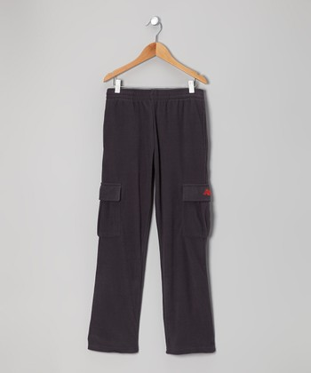 Charcoal & Orange Cargo Warm-Up Pants - Toddler & Boys