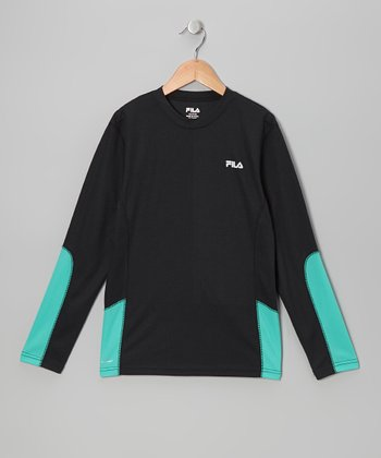 Black Mesh Perfromace Top - Boys