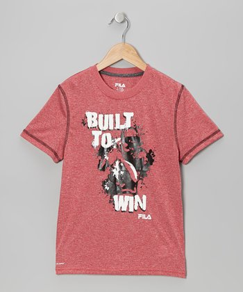 Faded Red 'Built to Win' Tee - Boys