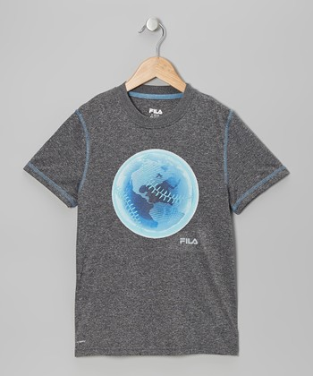 Gray Baseball Earth Tee - Boys