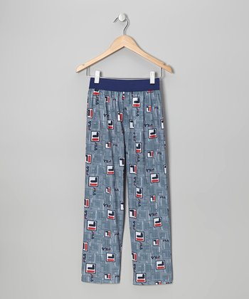 Blue Logo Pants - Boys