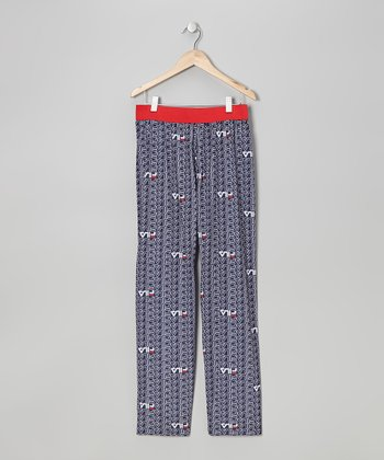 Red & Blue Logo Pants - Boys