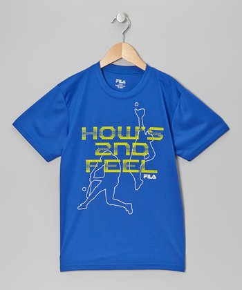 Blue 'How's 2nd Feel' Tee - Boys