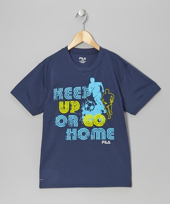 Navy 'Keep Up or Go Home' Tee - Boys