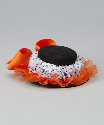 Black & Orange Bow Hat