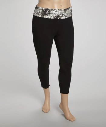 White Leopard Capri Pants - Plus