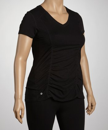 Black Performance V-Neck Tee - Plus