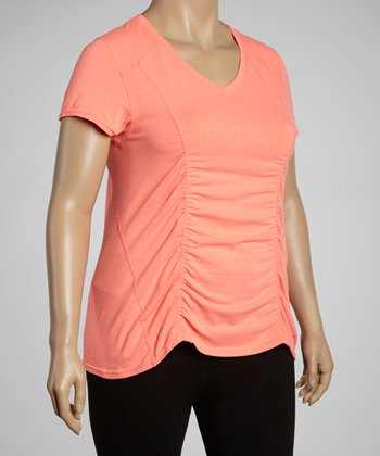 Orange Performance V-Neck Tee - Plus