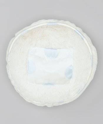 Blue Dot Luxe Satin Tooth Fairy Circle Pillow