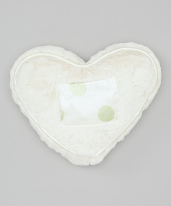 Celadon Dot Luxe Satin Tooth Fairy Heart Pillow