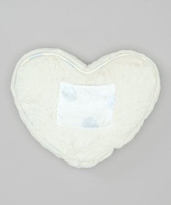 Blue Dot Luxe Satin Tooth Fairy Heart Pillow