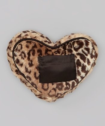 Espresso Leopard Luxe Tooth Fairy Heart Pillow