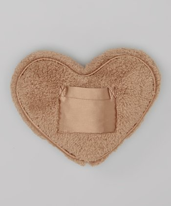 Mocha Chenille Tooth Fairy Heart Pillow