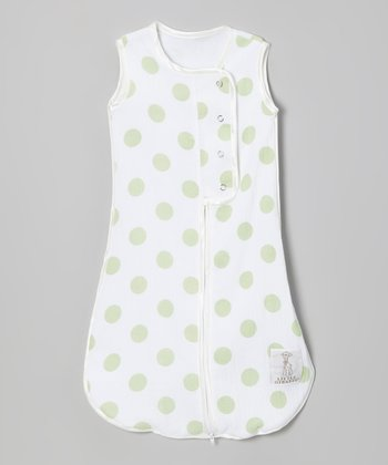 Celadon Dot Muslin Sleeping Sack
