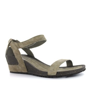 Beige Suede Cabrillo Wedge Sandal - Women