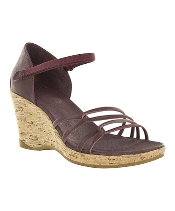 Dark Brown Riviera Wedge Sandal - Women