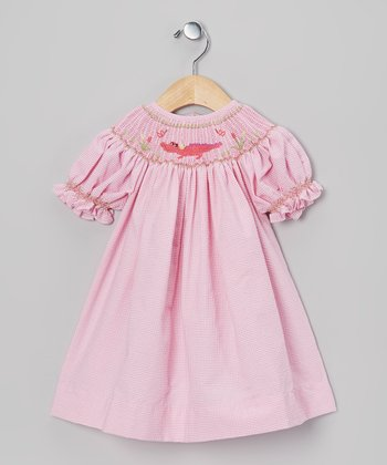 Pink Gingham Crocodile Bishop Dress - Infant & Toddler