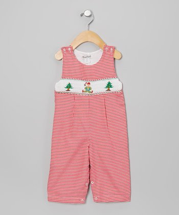 Red & White Gingham Elf John Johns - Infant