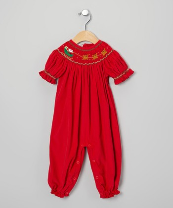 Red Santa Romper - Infant & Toddler