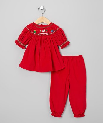 Red Santa Bishop Tunic & Pants - Infant & Toddler