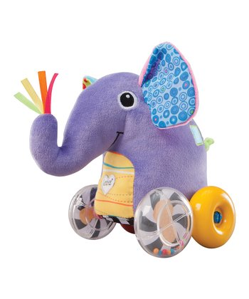Purple Push Along Peanut Elephant Plush Toy