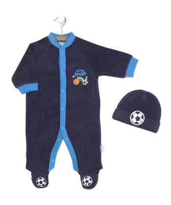 Navy 'Little Sport' Footie & Soccer Beanie