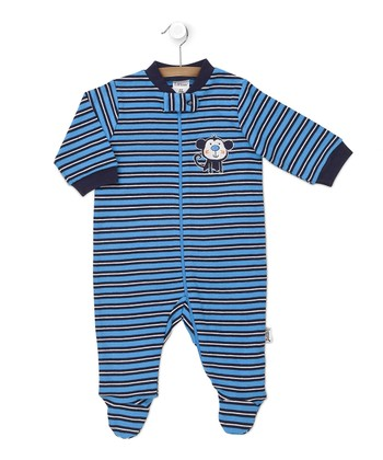 Blue Stripe Monkey Footie
