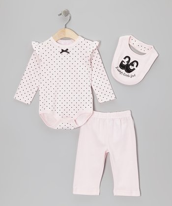 Light Pink 'Daddy's Little Girl' Ballet Bodysuit Set