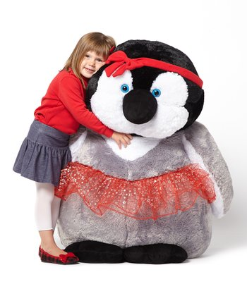 Red Dress Emperor Penguin Chick Jumbo Plush Toy