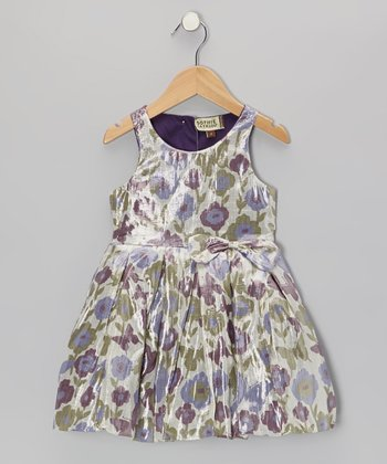 Purple Floral Darthy Dress - Infant, Toddler & Girls