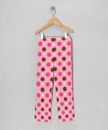 Pink Tart Dots Leggings - Infant & Girls