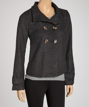 Ash Wool-Blend Cropped Jacket