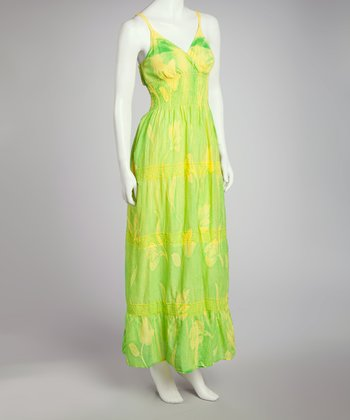 Lime Tie-Dye Maxi Dress - Women