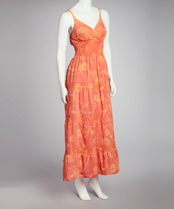 Orange Tie-Dye Maxi Dress - Women