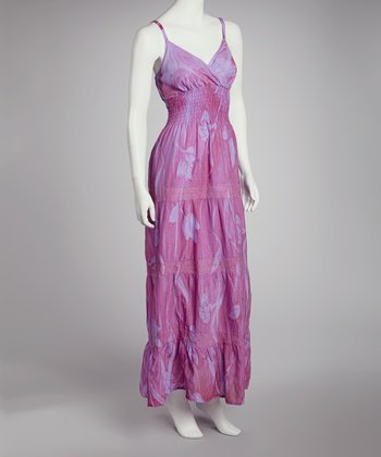 Purple Tie-Dye Maxi Dress - Women