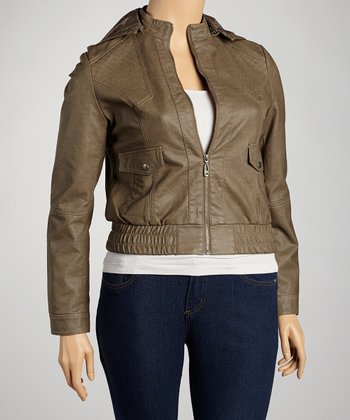 Khaki Bomber Jacket - Women & Plus