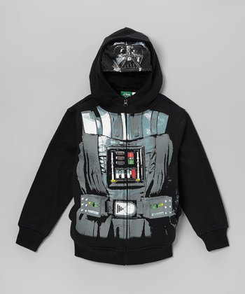 Black Darth Vader Zip-Up Hoodie - Toddler & Kids