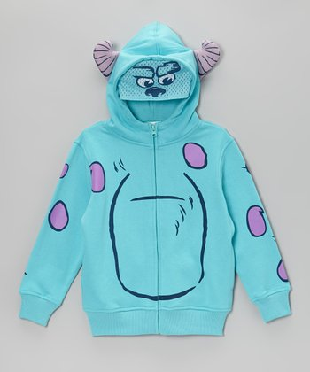 Blue Monsters Zip-Up Hoodie