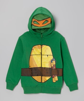 Green TMNT Zip-Up Hoodie - Boys