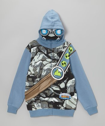 Gray Skylander Zip-Up Hoodie - Kids