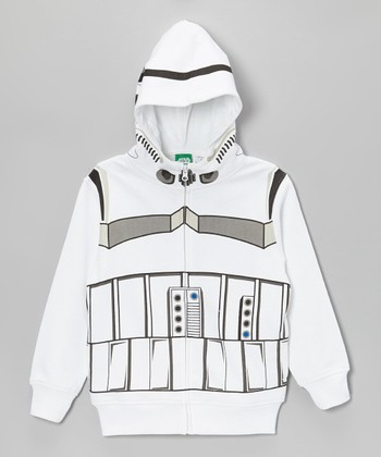 White Storm Trooper Zip-Up Hoodie - Boys