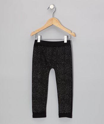 Black Sparkle Leggings