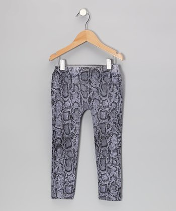 Purple Snake Leggings