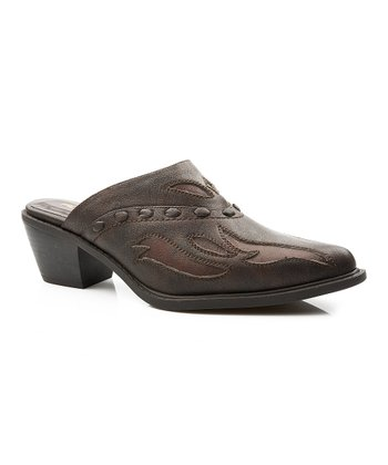 Brown Interlace Fashion Mule - Women