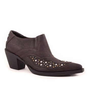 Brown Studded Ankle Boot - Women