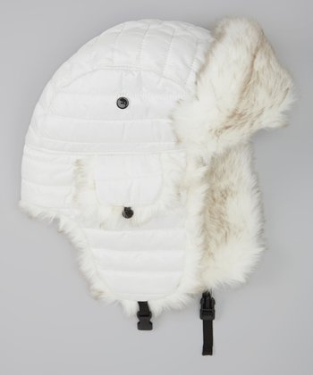 White Dekko Trapper Hat