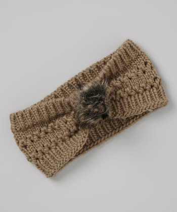Dark Brown Knit Head Wrap