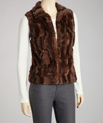 Brown Stan Faux Fur Vest