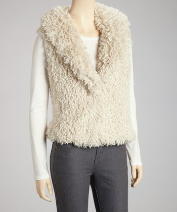 Cream Curly Q Vest - Women